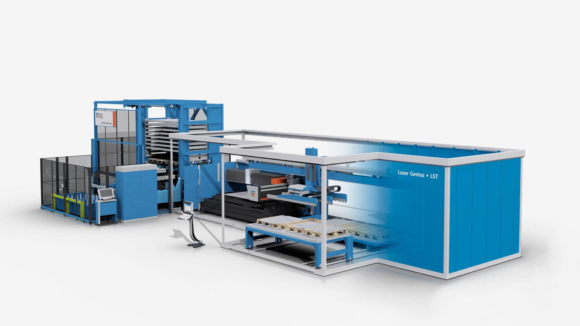 Nuevo centro automatizado de corte láser Genius 10 KW+LST